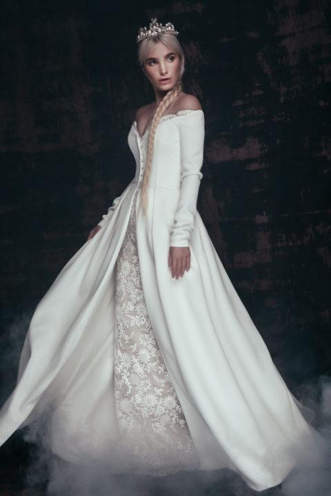 Свадебное платье Aldiva (cloak), Коллекция Anna de France, Anne-Mariée
