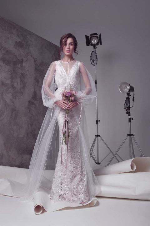 Свадебное платье Modesta (cape), Коллекция by Oksana Pravnyk, Anne-Mariée