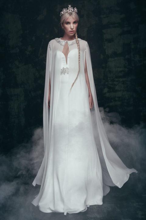Свадебное платье Ulada (cape), Коллекция Anna de France, Anne-Mariée