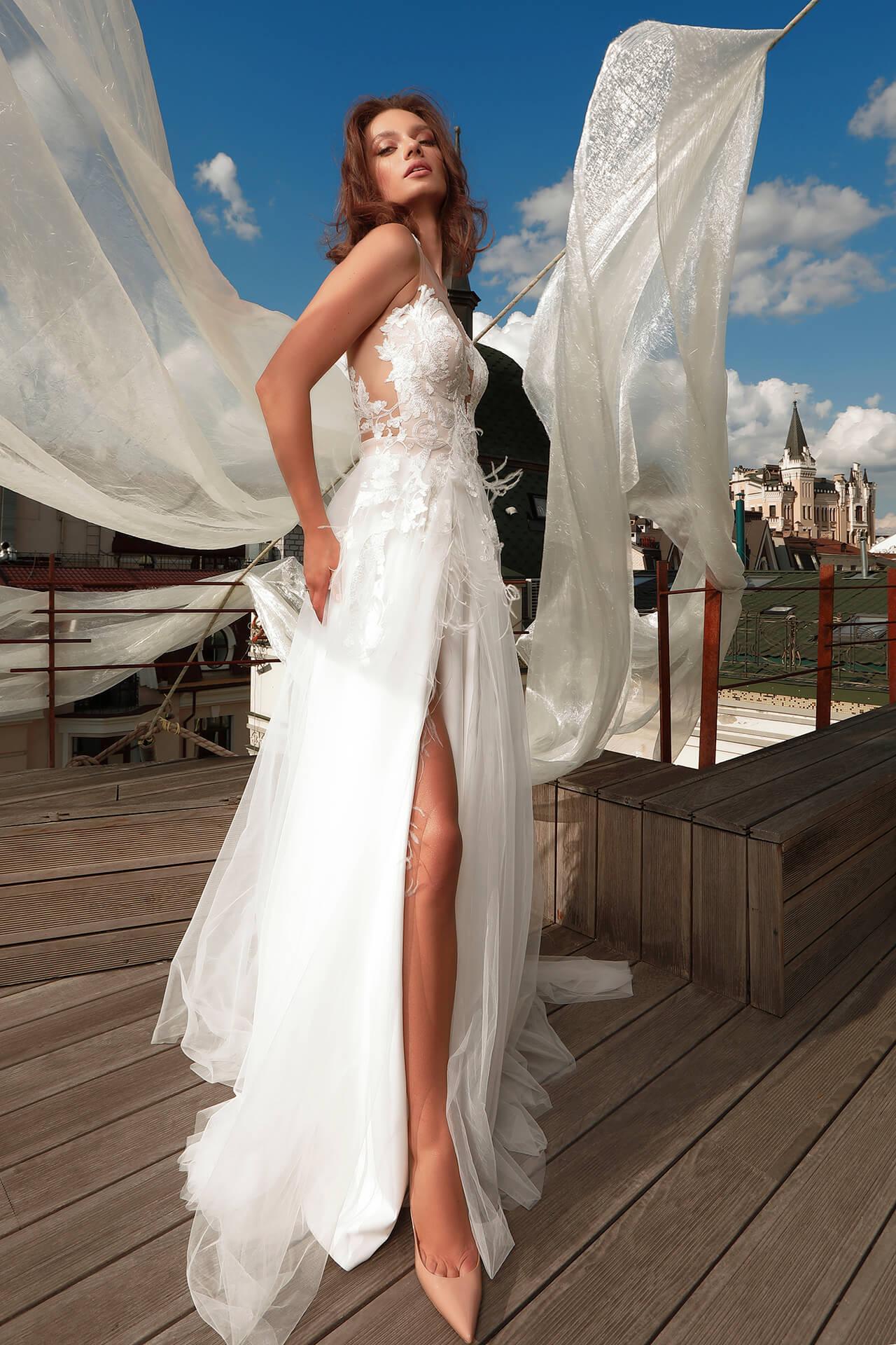 Свадебное платье Dinar, Коллекция Cloudy dreams, Anne-Mariée