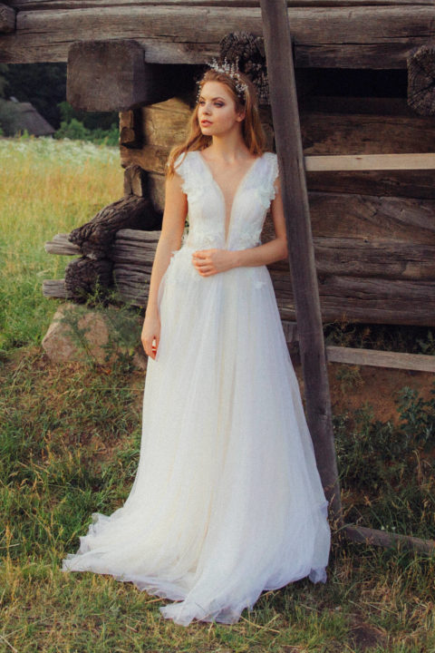 Свадебное платье Zimun, Коллекция Zhiva, Anne-Mariée