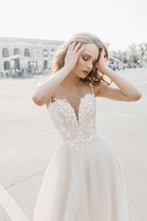 Свадебное платье Волан, Коллекция Laurette, Anne-Mariée