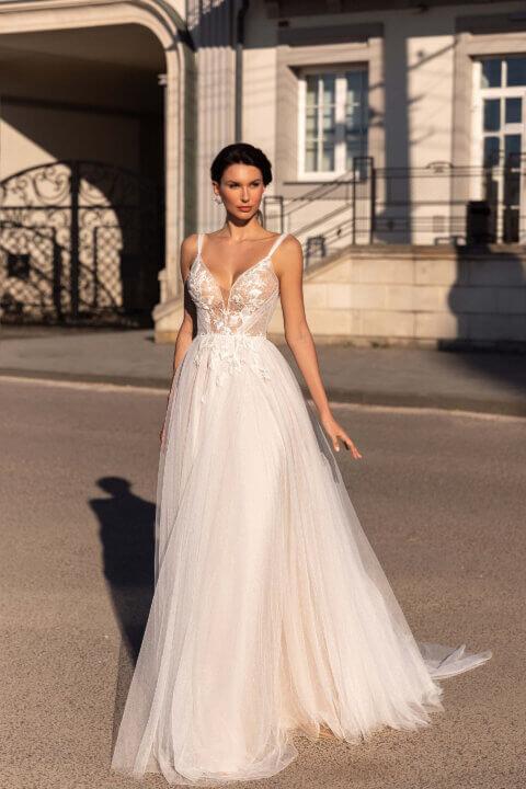 Свадебное платье Лакрэс, Коллекция Elodie 2022, Anne-Mariée
