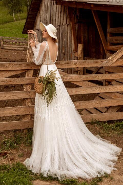 Свадебное платье Delain, Коллекция Montana Wind 2022, Anne-Mariée