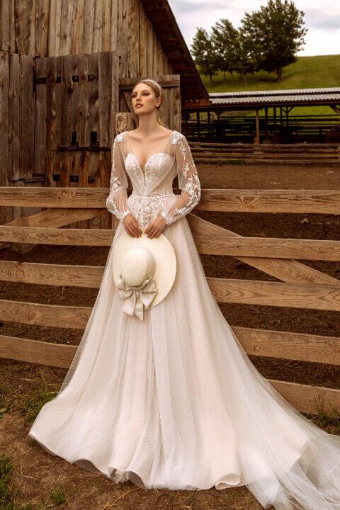 Свадебное платье Elsy, Коллекция Montana Wind 2022, Anne-Mariée