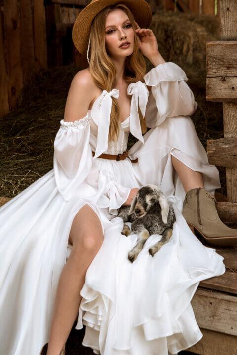 Свадебное платье Nelly, Коллекция Montana Wind 2022, Anne-Mariée