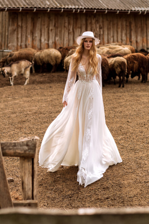 Свадебное платье Stefania, Коллекция Montana Wind 2022, Anne-Mariée