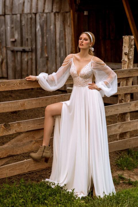 Свадебное платье Елла, Коллекция Montana Wind 2022, Anne-Mariée